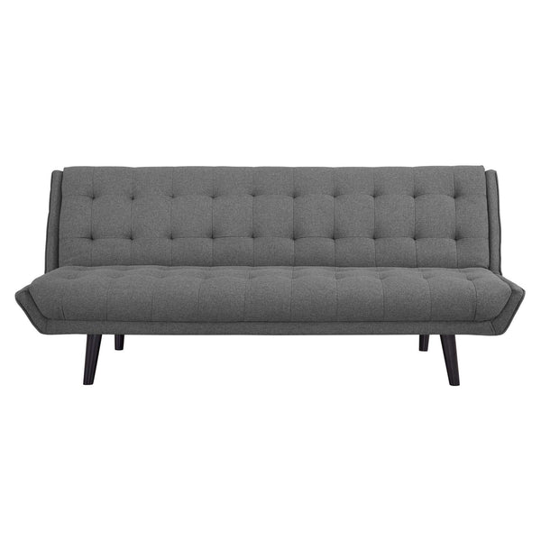 GLANCE TUFTED CONVERTIBLE FABRIC SOFA BED IN MANY COLORS
