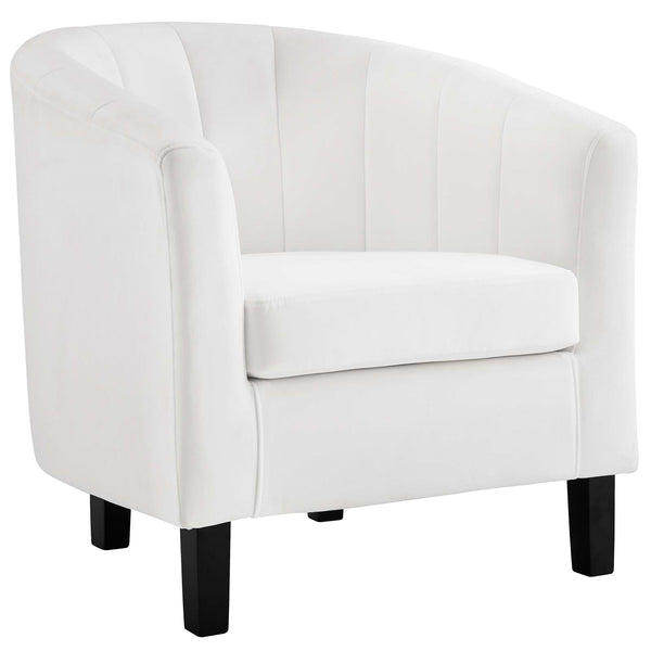 Prospect Channel Tufted Performance Velvet Armchair In Many Colors