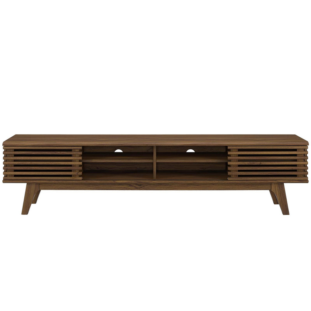 "Render 70"" Entertainment Center Tv Stand In Walnut Walnut"