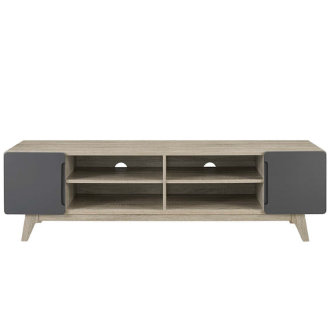 "Tread 70"" Media Console TV  Stand In Natural Grey"