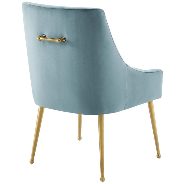 Discern Upholstered Performance Velvet Dining Chair in MANY COLORS