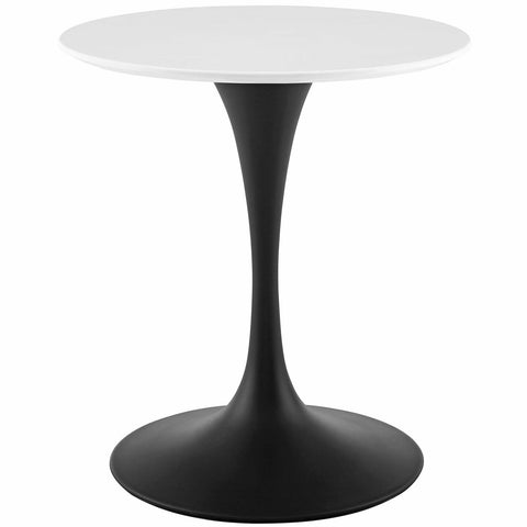 "Lippa 28"" / 36"" / 40"" / 47"" / 54"" Round Wood Dining Table In Black White"