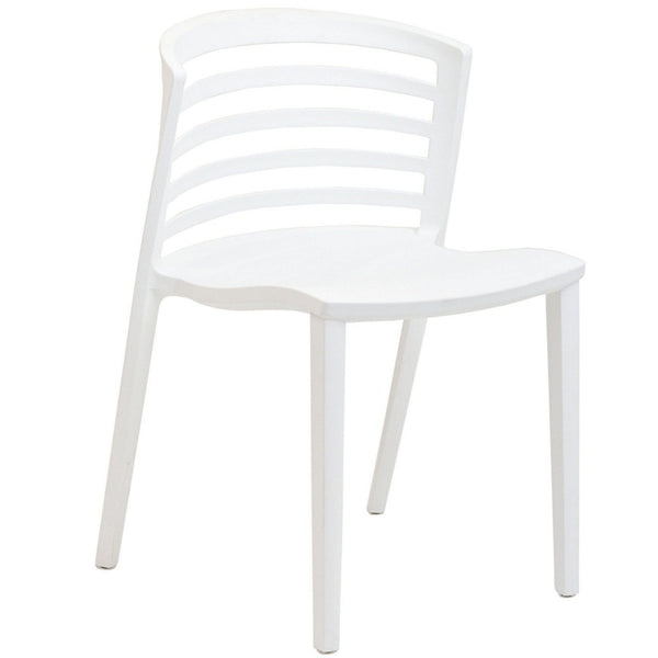Curvy White Stacking Plastic Chair MANY COLORS