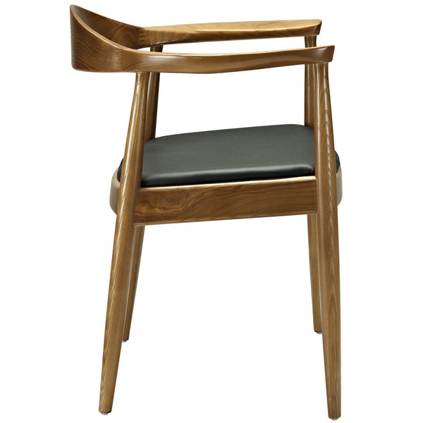 "ch20 Hans Wegner Elbow Style ""Presidential"" Arm Chair in Vinyl Seat"