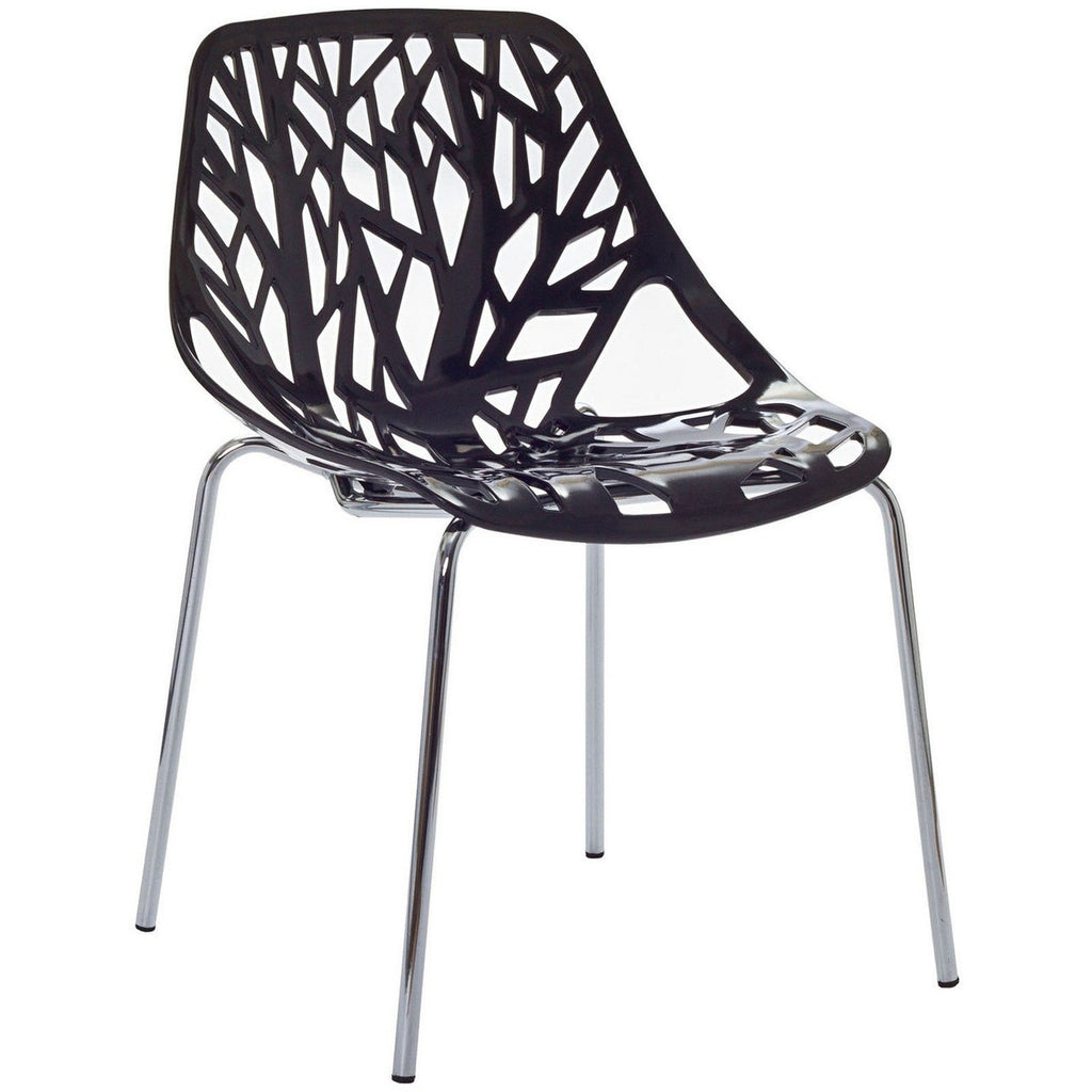 Stencil Vegetal Style Plastic Chair in MANY COLORS