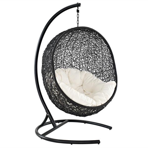 Nest One Outdoor Patio Swing Chair in Espresso White