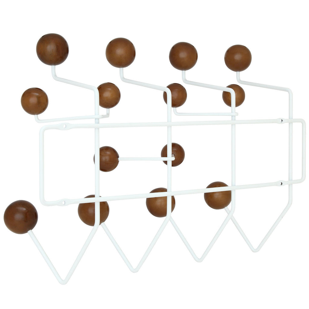 ... Eames Style Hang It All Wall Hanger Walnut Plastic Balls ...