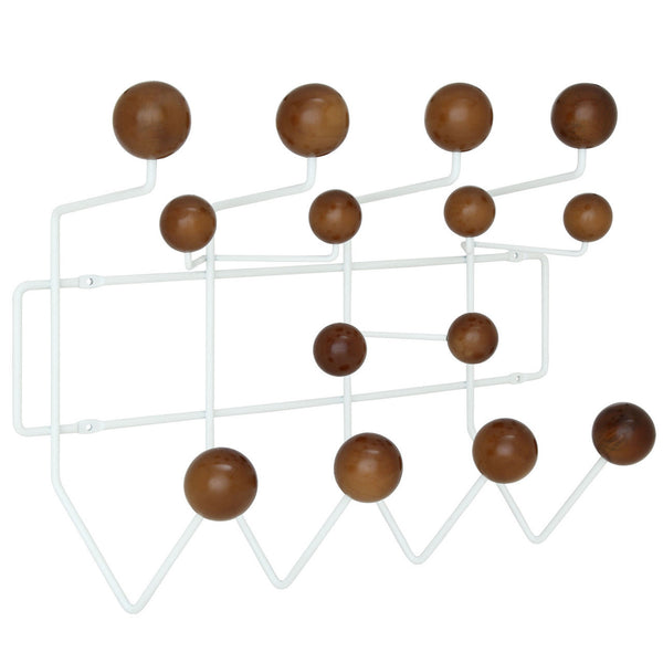 Eames Style Hang-It-All Wall Hanger Walnut Plastic Balls