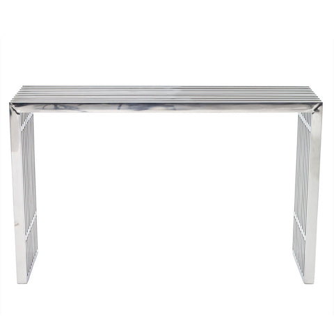 "Amici Style Stainless Steel 46"" x 15"" Console Table"