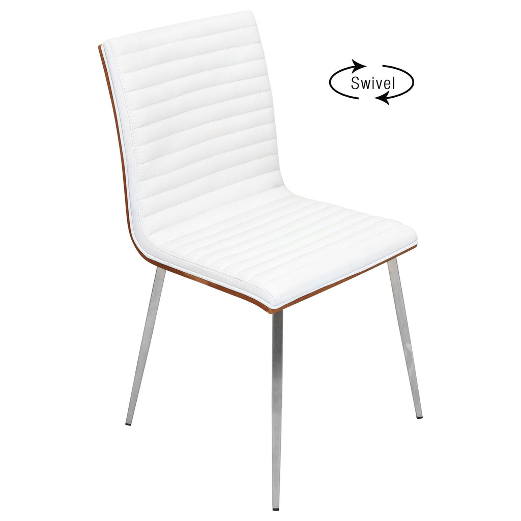 Mason Swivel Dining Chair Set Of 2 In Off White