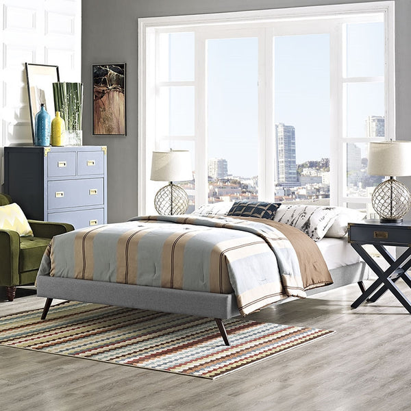 Helen Fabric Platform Bed Frame in MANY Twin/Full/Queen/King in MANY COLORS