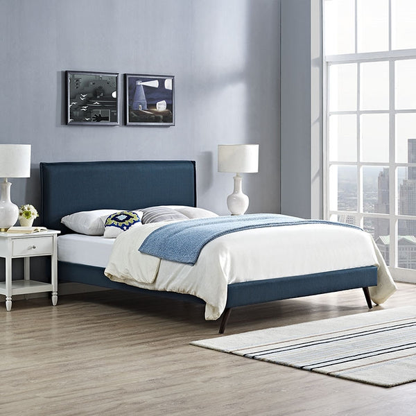 Camille Platform Bed in Twin/Full/Queen/King in AZURE or GREY