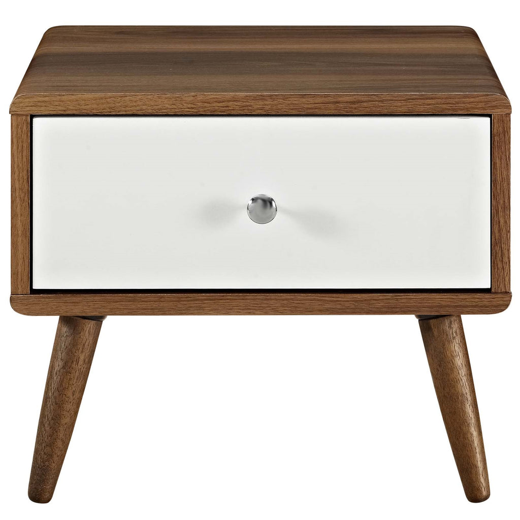 TRANSMIT NIGHTSTAND IN WALNUT WHITE
