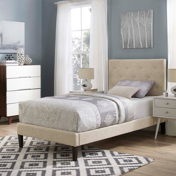 Tarah Upholstered Bed in Twin/Full/Queen/King in Many Color Options Tapered Legs