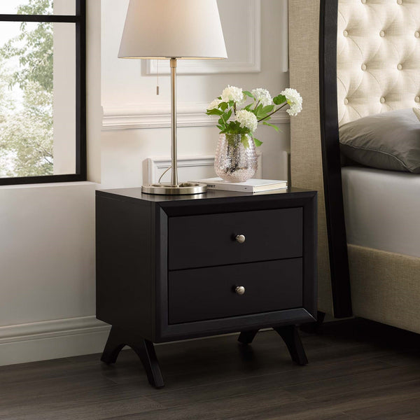 PROVIDENCE NIGHTSTAND OR END TABLE IN WALNUT or CAPPUCINO