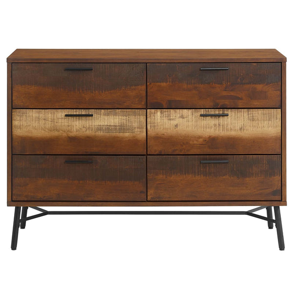 ARWEN RUSTIC WOOD DRESSER IN DISTRESSED WALNUT
