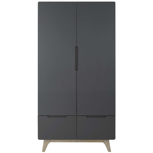 ORIGIN WOOD WARDROBE CABINET IN Natural+Gray or Walnut+White