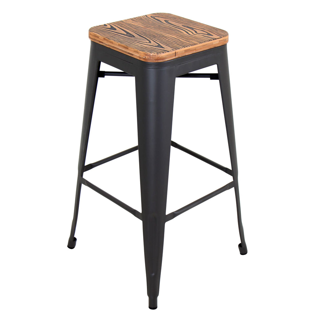 ... Oregon Stackable Barstool   Set Of 2 Medium Brown Or Espresso ...