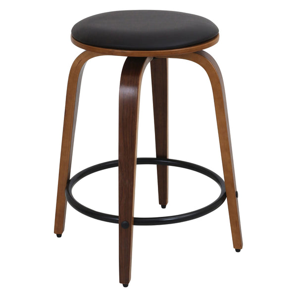 Porto Counter Stools with Swivel - Set Of 2. White or Brown