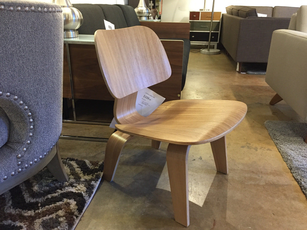 Eames plywood desk chair -  Eames Style Molded Plywood Lounge Chair In Black Blue Red Natural Walnut Wenge