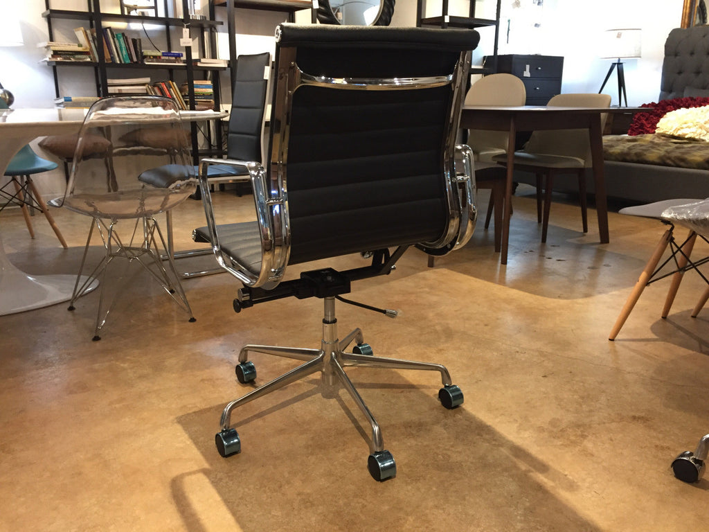 Admirable Premier Eames Style Ribbed Leather Management Executive Office Chair Forskolin Free Trial Chair Design Images Forskolin Free Trialorg