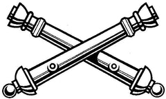 Navy Crossed Cannons Illustration