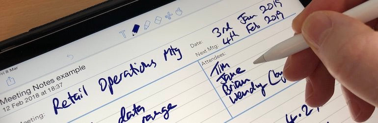 New 'paperless' templates for iPad or tablets