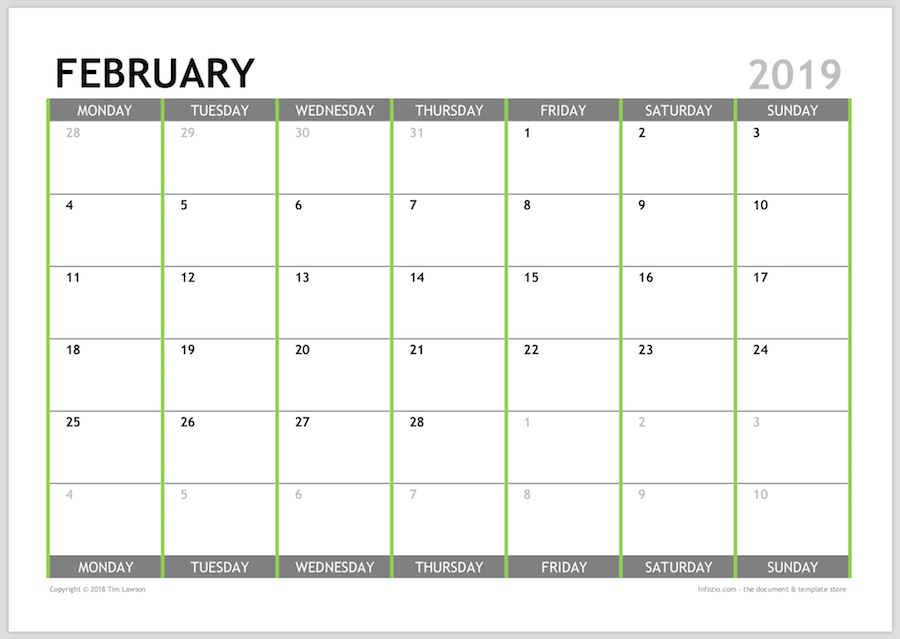 It's just an image of Peaceful Printable Monthly Planner