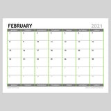 2021 Monthly Calendar Planner Download A4 or A3 (12 pages)