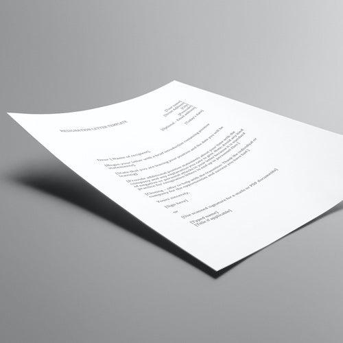 Job Quitting Letter Template for Employees (Word document)