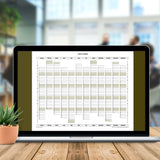 2024 Year Planner Calendar Download (A4 or A3 printable)