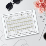 2020 Year Planner Calendar Download (A4 or A3 printable)