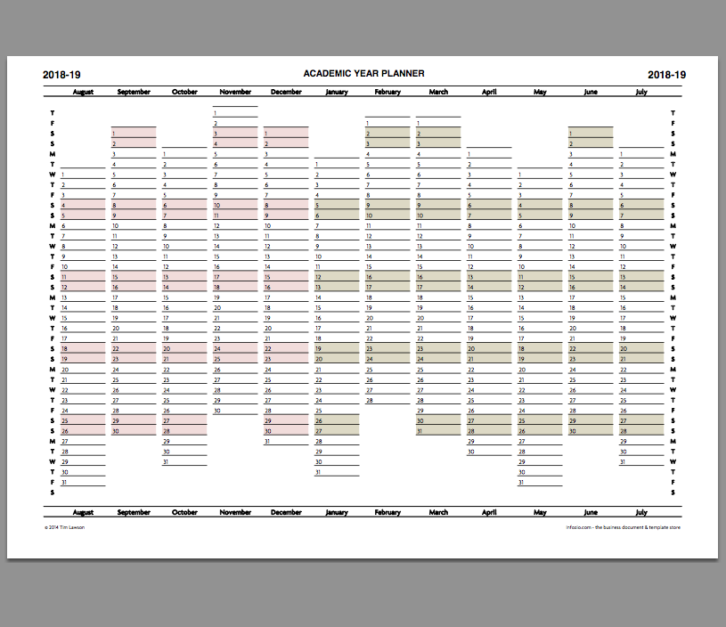 It is a picture of Zany Printable Academic Planner