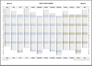 Fiscal Year Planner 2013-14