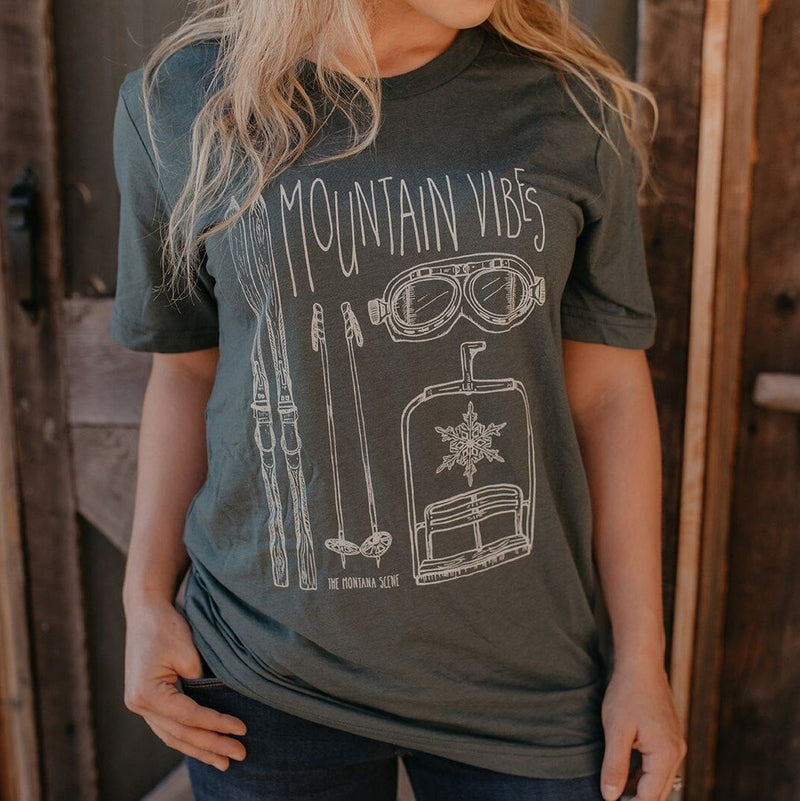 Montana Scene Montana Scene Mountain Vibes Unisex Tee [product_variant] T-Shirt - Wander Outfitters