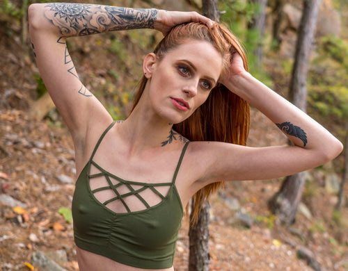 Seams Lovely Seams Lovely Apparel - Pharell Bralette (Olive) [product_variant] Active Top - Wander Outfitters