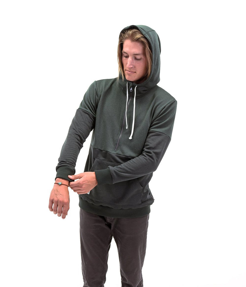 Deso Supply Co. Deso Supply Co. - The Gefo Half-zip Hoodie Pirate Black/ Chinquapin [product_variant]  - Wander Outfitters