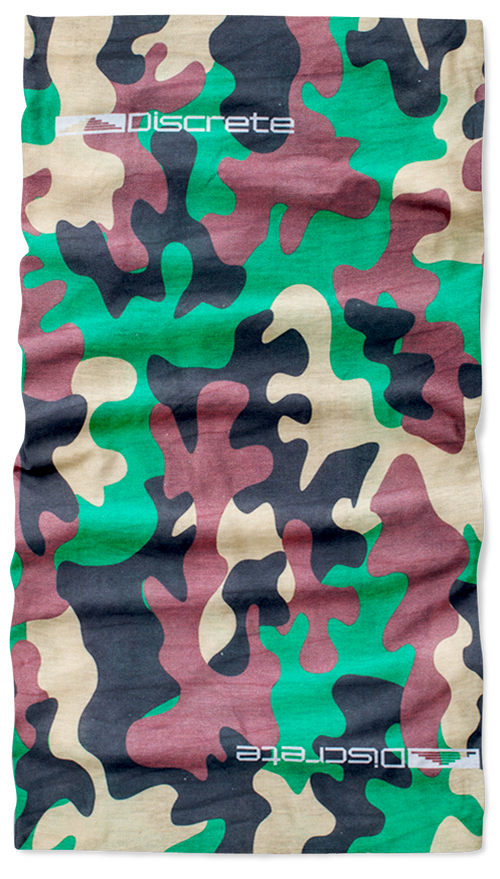Discrete Clothing GREEN CAMO NECK GAITER [product_variant] Neck Gaiters - Wander Outfitters