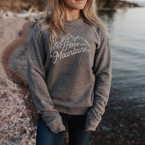Montana Scene Montana Scene - Home is Where the Mountains Are - Unisex [product_variant] Sweatshirt - Wander Outfitters