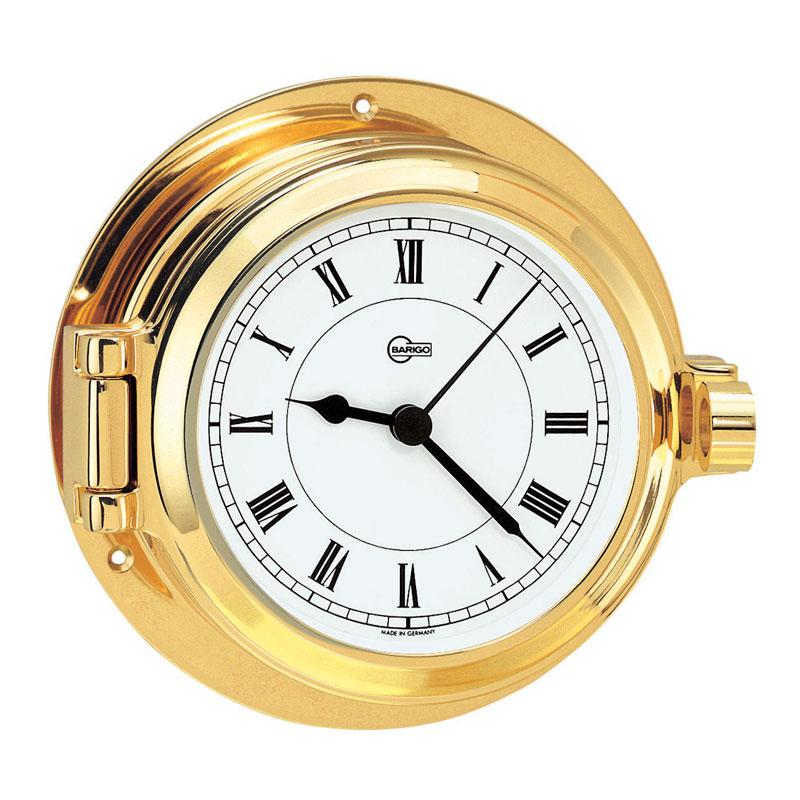 Poseidon Brass Porthole Quartz Ship's Clock - Trintec Industries Inc.
