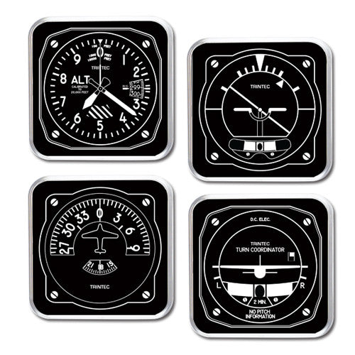 Black & White 4-Piece Square Acrylic Coaster Set