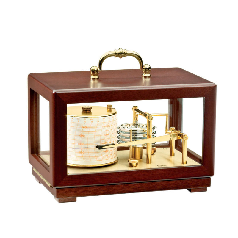 Mechanical Mahogany Barograph by Barigo