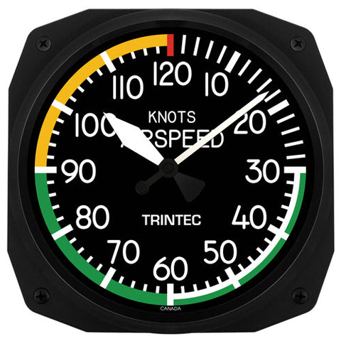 "10"" Airspeed Instrument Style Clock - Trintec Industries Inc."
