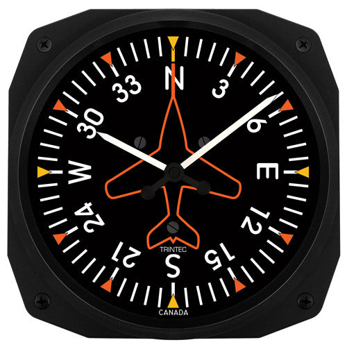 "10"" Directional Gyro Instrument Style Clock - Trintec Industries Inc."