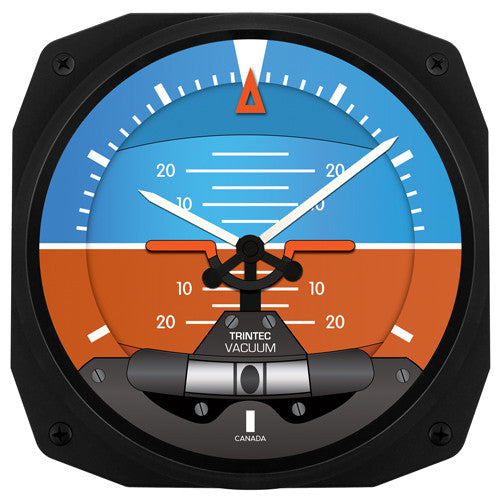"10"" Artificial Horizon Instrument Style Clock - Trintec Industries Inc."