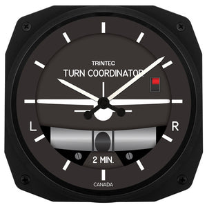 "10"" Turn & Bank Instrument Style Clock - Trintec Industries Inc."