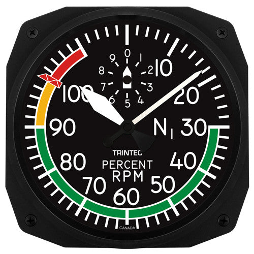 "10"" Percent RPM Instrument Style Clock - Trintec Industries Inc."