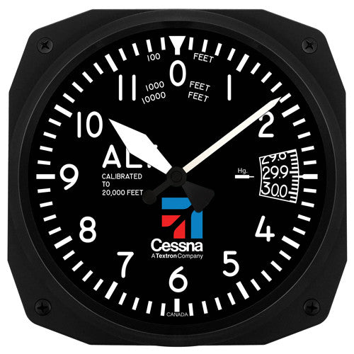 "10"" Cessna Altimeter Instrument Style Clock (NEW)"