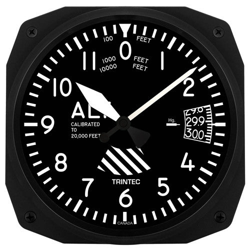"10"" Altimeter Instrument Style Clock - Trintec Industries Inc."