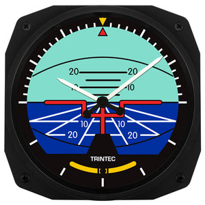 "10"" Classic Artificial Horizon Instrument Style Clock - Trintec Industries Inc."